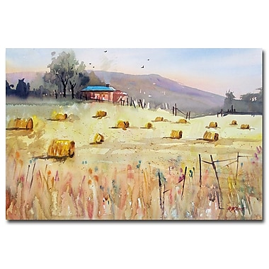 Trademark Fine Art Ryan Radke 'Hay Bales' Canvas Art 22x32 Inches