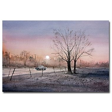 Trademark Fine Art Ryan Radke 'Highway 21 Sunrise' Canvas Art 30x47 Inches