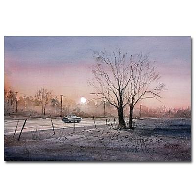 Trademark Fine Art Ryan Radke 'Highway 21 Sunrise' Canvas Art 30x47 Inches