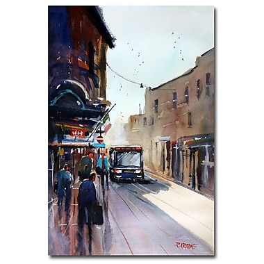 Trademark Fine Art Ryan Radke 'Italian Bus Stop' Canvas Art 22x32 Inches