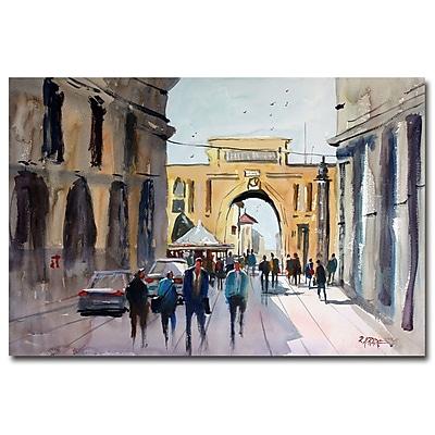 Trademark Fine Art Ryan Radke 'Italian Impressions IV' Canvas Art 22x32 Inches