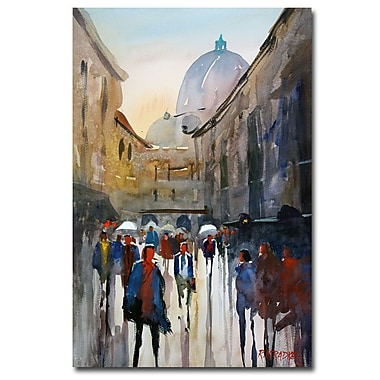 Trademark Fine Art Ryan Radke 'Itallian Imressions V' Canvas Art 30x47 Inches