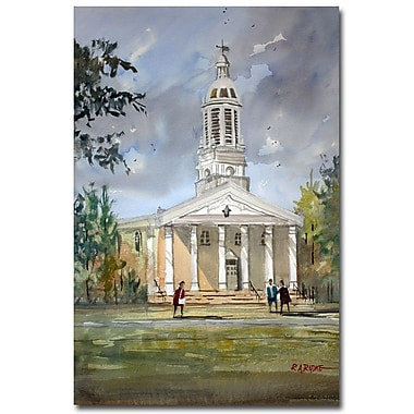 Trademark Fine Art Ryan Radke 'Lawrence Memorial Chapel' Canvas Art 22x32 Inches