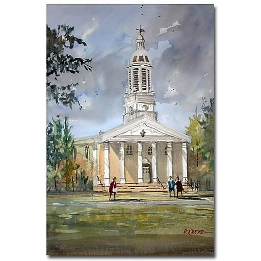 Trademark Fine Art Ryan Radke 'Lawrence Memorial Chapel' Canvas Art 16x24 Inches
