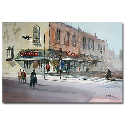 Trademark Fine Art Ryan Radke 'Main Street marketpalce Waupaca' Canvas Art 30x47 Inches