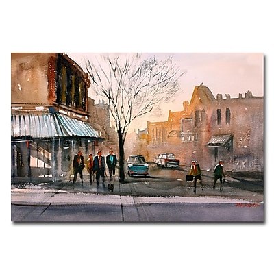 Trademark Fine Art Ryan Radke 'Main Street Steven's Point' Canvas Art 16x24 Inches