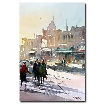 Trademark Fine Art Ryan Radke 'Meet Me Downtown' Canvas Art 16x24 Inches