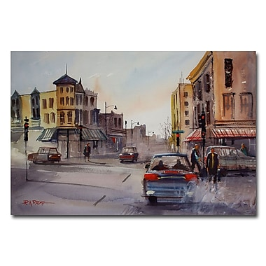 Trademark Fine Art Ryan Radke 'Merritt and Main' Canvas Art 22x32 Inches