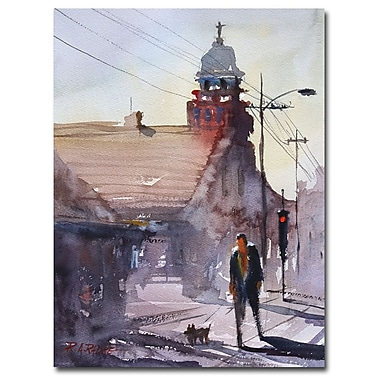 Trademark Fine Art Ryan Radke 'Morning Stroll in Steven's Point' Canvas Art 35x47 Inches
