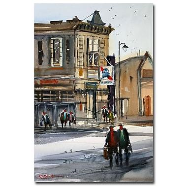 Trademark Fine Art Ryan Radke 'Neshkoro Tavern' Canvas Art 22x32 Inches