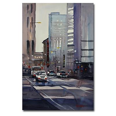 Trademark Fine Art Ryan Radke 'Oriental Theater-Chicago' Canvas Art 30x47 Inches