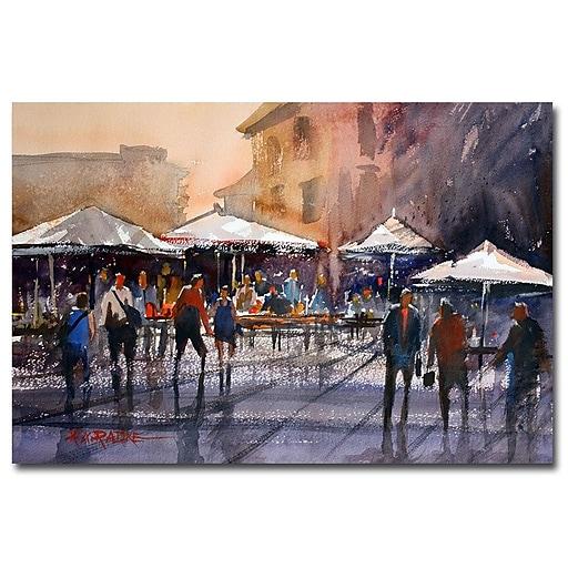 Trademark Fine Art Ryan Radke 'Outdoor Market-Rome' Canvas Art 22x32 Inches