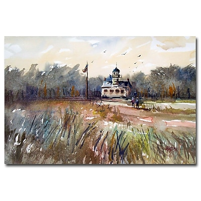 Trademark Fine Art Ryan Radke 'Point Pinos Lighthouse' Canvas Art 30x47 Inches