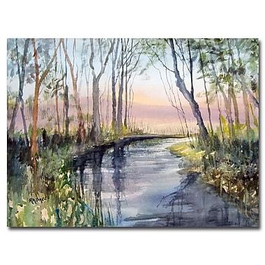 Trademark Fine Art Ryan Radke 'River Reflections' Canvas Art 22x32 Inches