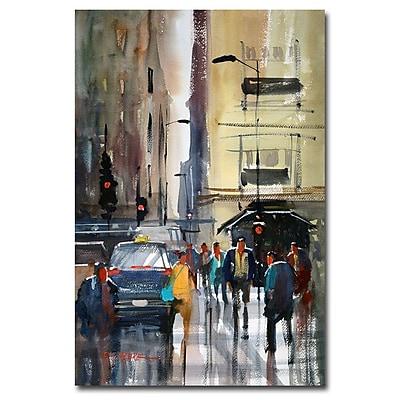 Trademark Fine Art Ryan Radke 'Rush Hour II-Chicago' Canvas Art 16x24 Inches