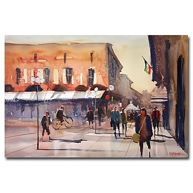 Trademark Fine Art Ryan Radke 'Shopping in Italy' Canvas Art 16x24 Inches