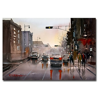 Trademark Fine Art Ryan Radke 'Slick Streets' Canvas Art 16x24 Inches