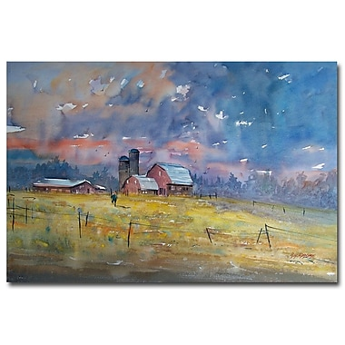Trademark Fine Art Ryan Radke 'Storm Brewing' Canvas Art 16x24 Inches