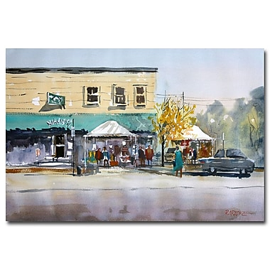 Trademark Fine Art Ryan Radke 'Street Festival-Neshkoro' Canvas Art 30x47 Inches