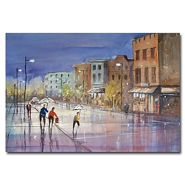Trademark Fine Art Ryan Radke 'Summer Showers in Green Bay' Canvas Art 22x32 Inches