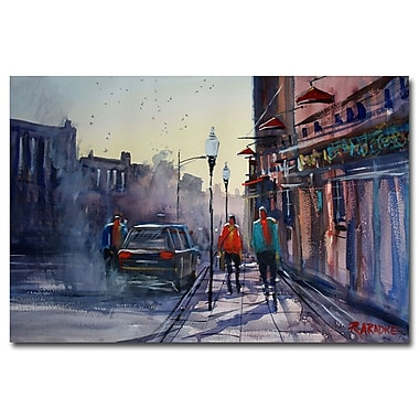 Trademark Fine Art Ryan Radke 'Sunset Stroll-Wautoma' Canvas Art 30x47 Inches