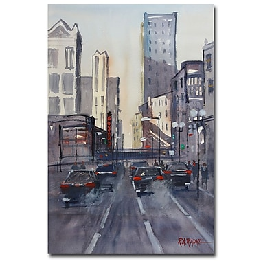 Trademark Fine Art Ryan Radke 'Theatre District-Chicago' Canvas Art 30x47 Inches