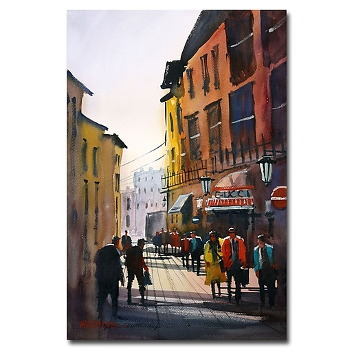 Trademark Fine Art Ryan Radke 'Tourists in Italy' Canvas Art 30x47 Inches