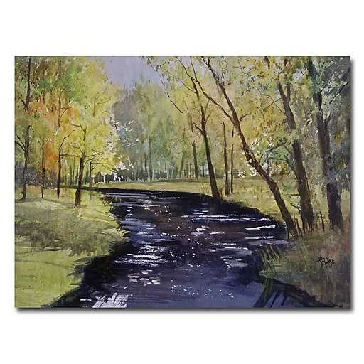 Trademark Fine Art Ryan Radke 'View from the Covered Bridge' Canvas Art 30x47 Inches