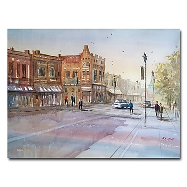 Trademark Fine Art Ryan Radke 'Waupaca-Main Street' Canvas Art 35x47 Inches