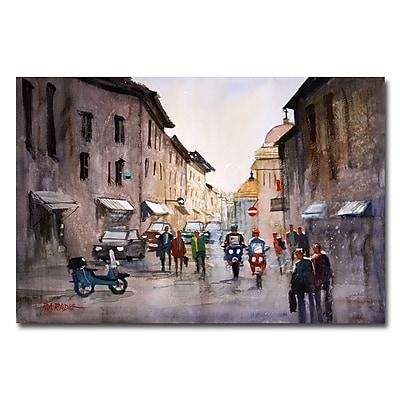 Trademark Fine Art Ryan Radke 'When in Rome' Canvas Art 22x32 Inches
