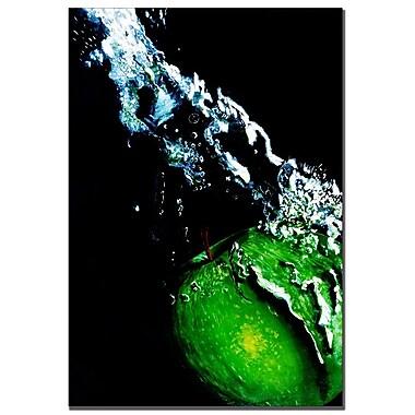 Trademark Fine Art Roderick Stevens 'Apple Splash' Canvas Art