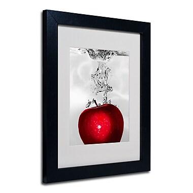 Trademark Fine Art Roderick Stevens 'Red Apple Splash' Framed Matted Art