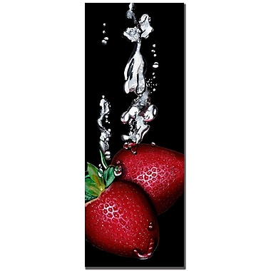 Trademark Fine Art Roderic Stevens 'Strawberry Splash' Canvas Art