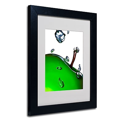 Trademark Fine Art Roderick Stevens 'Granny Splash II' Matted Art Black Frame 11x14 Inches