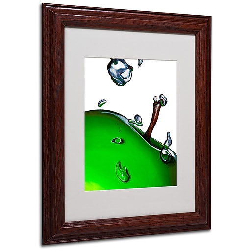 Roderick Stevens 'Granny Splash II' Framed Matted Art - 11x14 Inches - Wood Frame