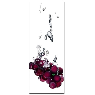 Trademark Fine Art Roderic Stevens 'Grapes Splash II ' Canvas Art 12x32 Inches