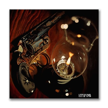 Trademark Fine Art Found Pistol by Roderick Stevens-Canvas Art