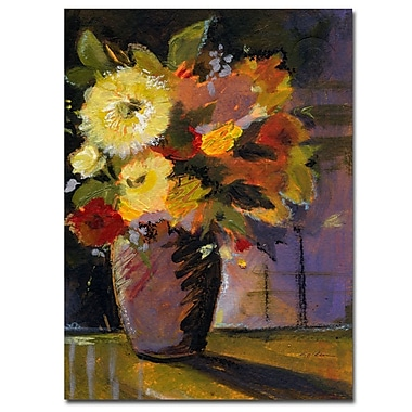 Trademark Fine Art Shiela Golden 'Purple Vase' Canvas Art Ready to Hang 35x47 Inches