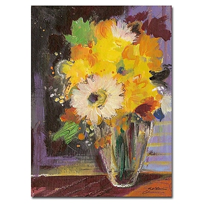 Trademark Fine Art Sheila Golden 'Glass Vase' Canvas Art Ready to Hang 18x24 Inches