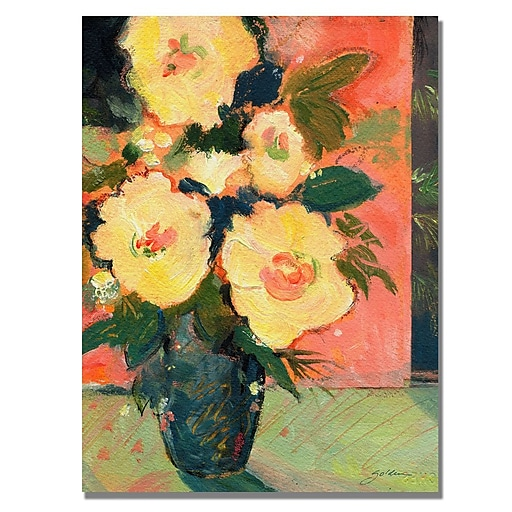 Trademark Fine Art Shelia Golden 'Tropical Bloom' Canvas Art 35x47 Inches