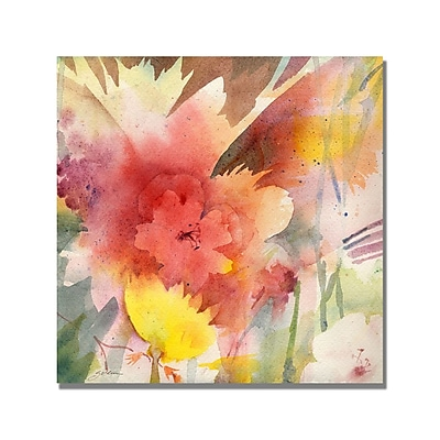 Trademark Fine Art Shelia Golden 'Hibiscus Shadows' Canvas Art 18x18 Inches