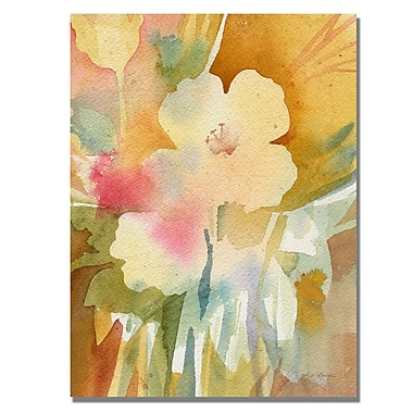 Trademark Fine Art Shelia Golden 'Ochre Garden View' Canvas Art