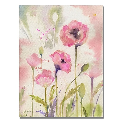 Trademark Fine Art Shelia Golden 'Oriental Poppy Garden' Canvas Art 24x32 Inches