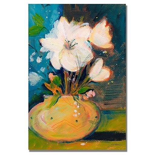 Trademark Fine Art Shelia Golden 'Simplicity' Canvas Art 16x24 Inches