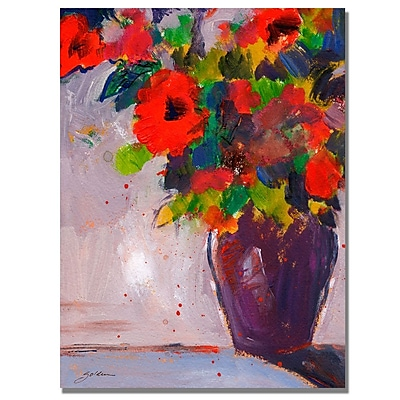 Trademark Fine Art Shelia Golden 'Fiesta II' Canvas Art 35x47 Inches