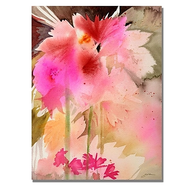 Trademark Fine Art Shelia Golden 'Pink Garden' Canvas Art 24x32 Inches