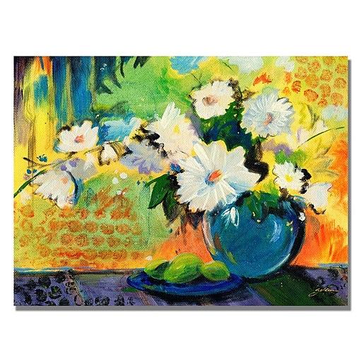 Trademark Fine Art Shelia Golden 'Yellow Wall' Canvas Art 35x47 Inches