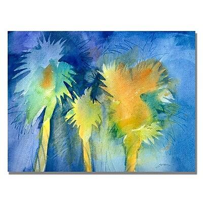 Trademark Fine Art Shelia Golden 'Night Palm' Canvas Art 35x47 Inches