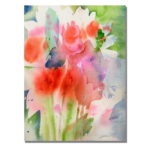 Trademark Fine Art Shelia Golden 'Bouquet in Spring' Canvas Art 18x24 Inches