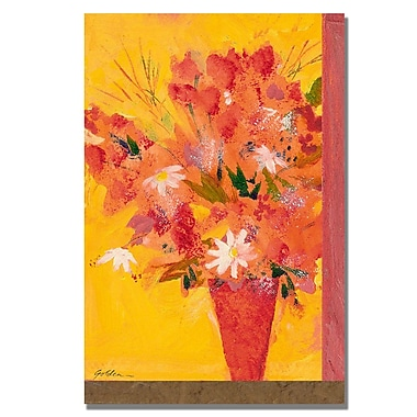 Trademark Fine Art Shelia Golden 'Bouquet with Yellow II' Canvas Art 35x47 Inches